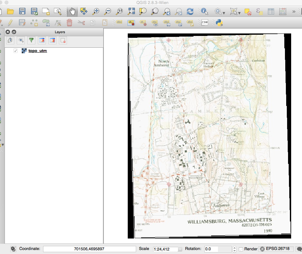 Georeferencing a Scanned Paper Map or Image · Community Service with